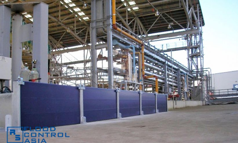 The flood barriers can protect wide perimeters, making them fit for warehouses and factories.