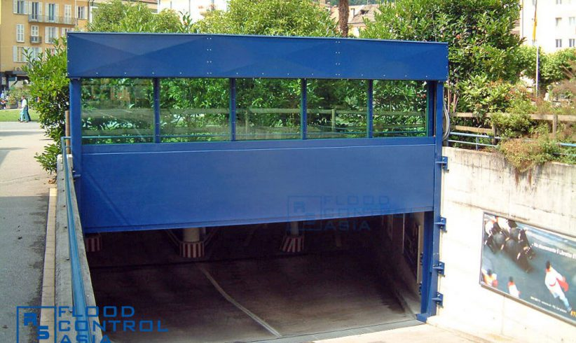Drop-Down Flood Barriers are perfect for underground parkings.