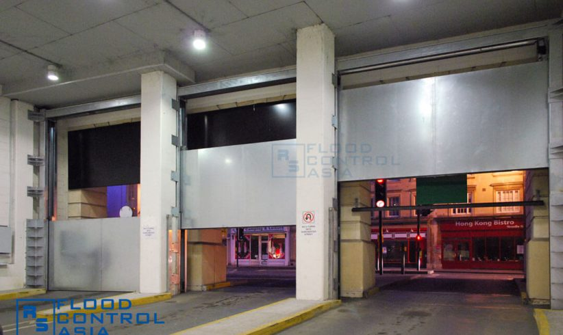 Multiple Drop-Down Flood Barriers can be installed on a building if one is not sufficient.