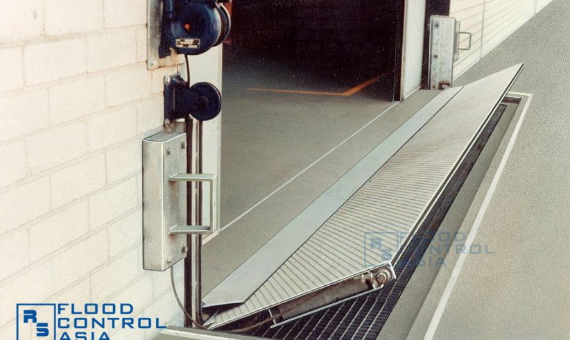 The Flip-Up Flood Barriers are also ideal for warehouses and vehicle entrances.