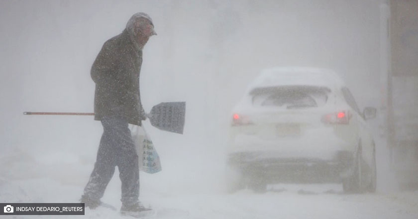 A winter storm in Buffalo, New York.