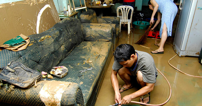home destroyed by flood