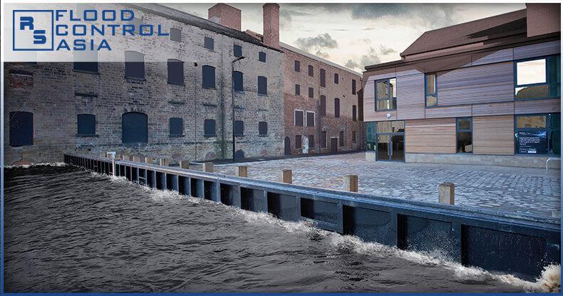Flip-up barrier prevent flooding