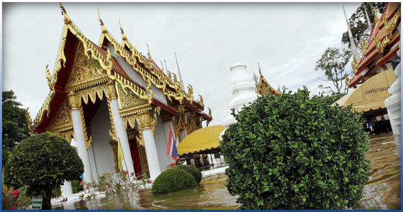 flooded historical sites