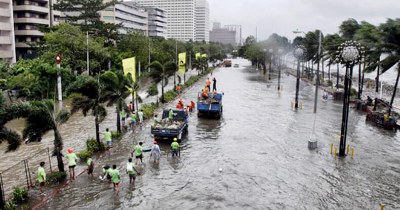 hotels in manila bay flooded