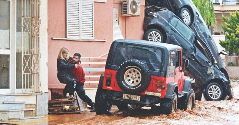 Deadly flood in greece
