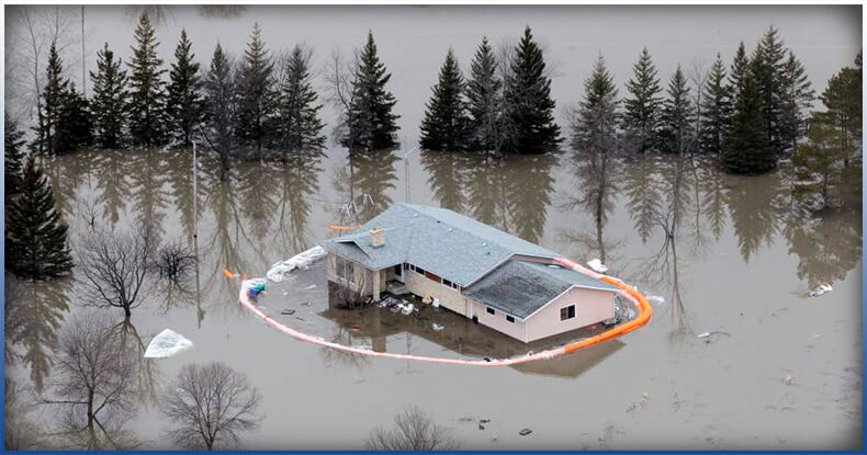 flood protection failed to protect the house