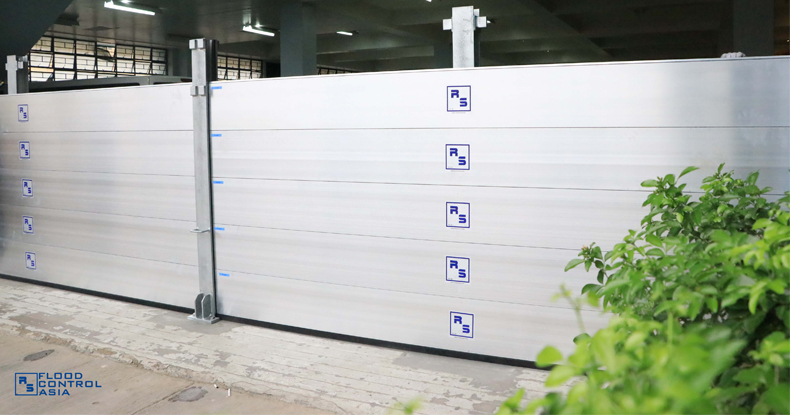 flood control RS barrier installed