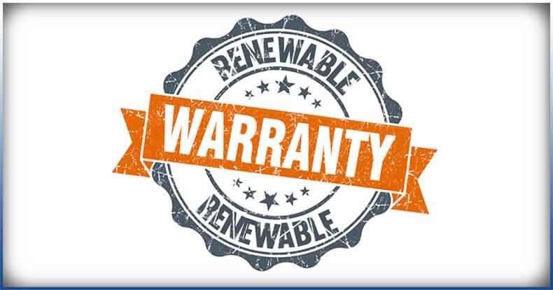 renewable warranty logo
