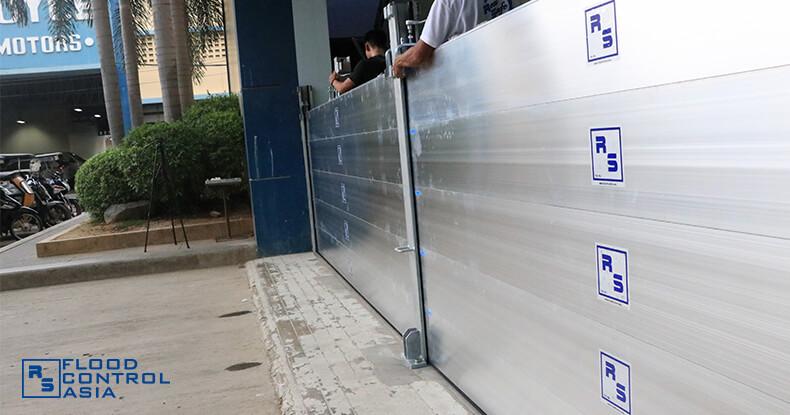 Flood Control Asia RS Royce Motors flood control barrier