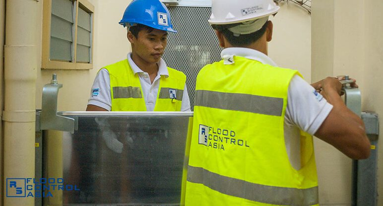 Flood Control Asia RS demountable barrier installation