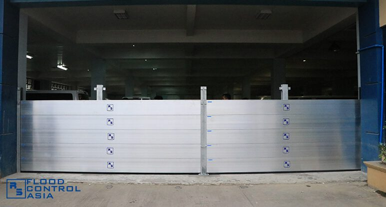 Flood Control Asia RS flood barrier installed