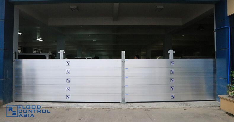 Flood Control Asia RS flood barrier installed
