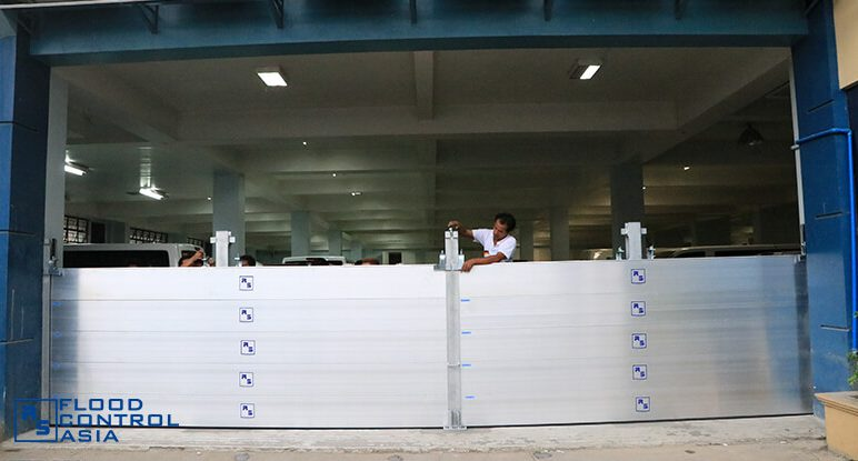 Flood Control Asia RS flood barrier locking system