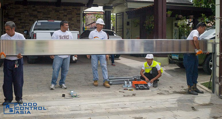 Flood Control Asia RS installation of flood control barriers