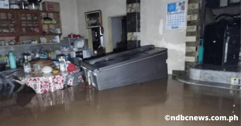 The house and the furniture were submerged in floodwater in Midsayap, North Cotabato on August 03, 2020, canal flood risk