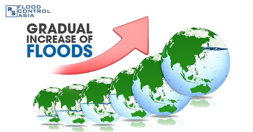 Gradual Increase of Floods