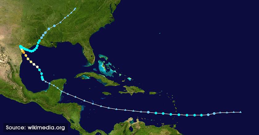 Hurricane path way
