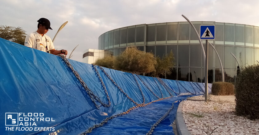 INERO™ Mobile Flood Barriers as flood protection for Doha Education City