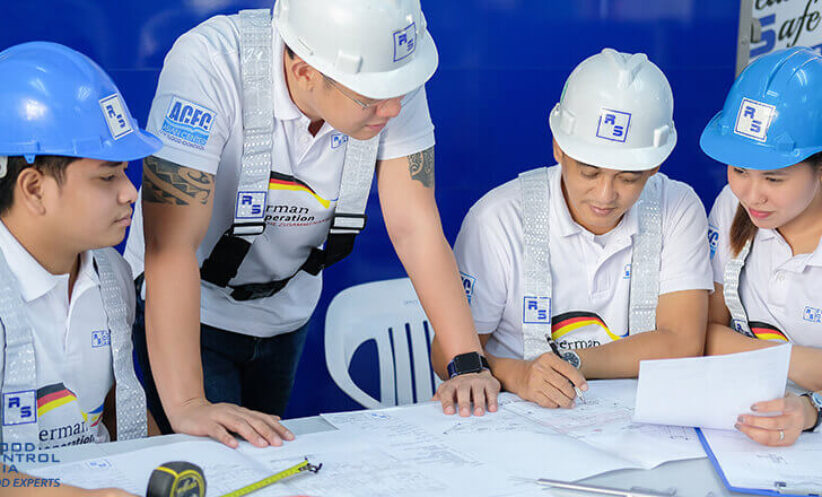 RS Engineers make sure all obstructions are checked based on plan drawings