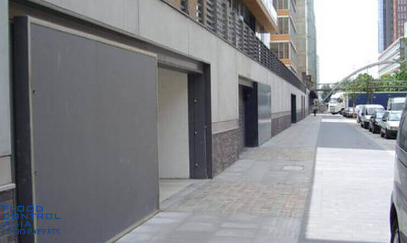 The finish of RS Sliding Flood Gates can adapt to the aesthetic of the building.
