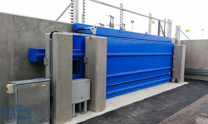 An automatic RS Sliding Flood Gates that can protect the entire plant against massive flooding.