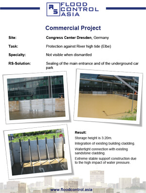 flood case study for congress center in dresden