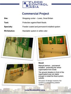flood case study of shopping center lewis