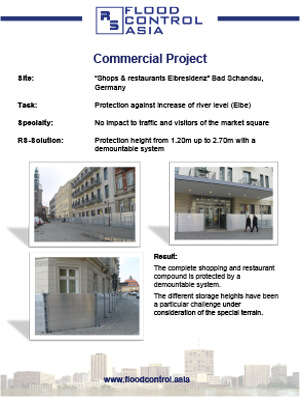 flood case study of shops and restaurant elbresidenz