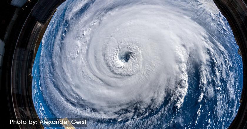 hurricane satellite view