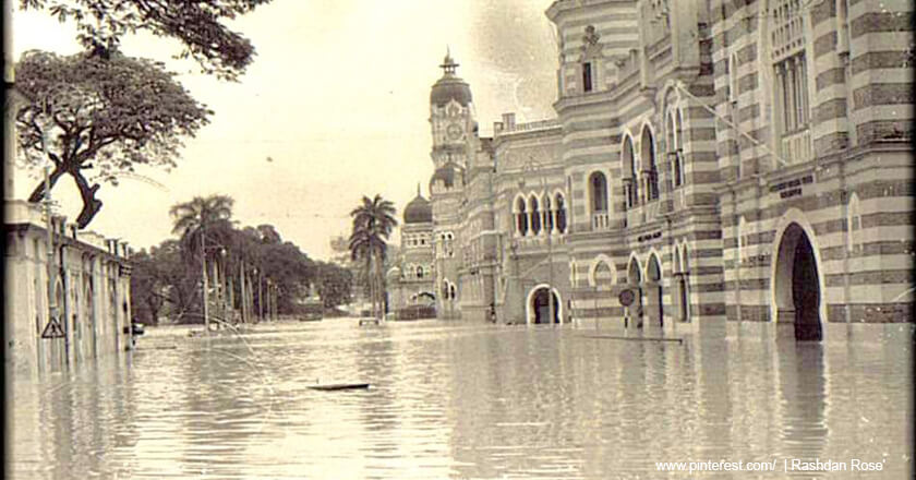 old flooded photo